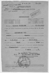 Scan original de Attestation d